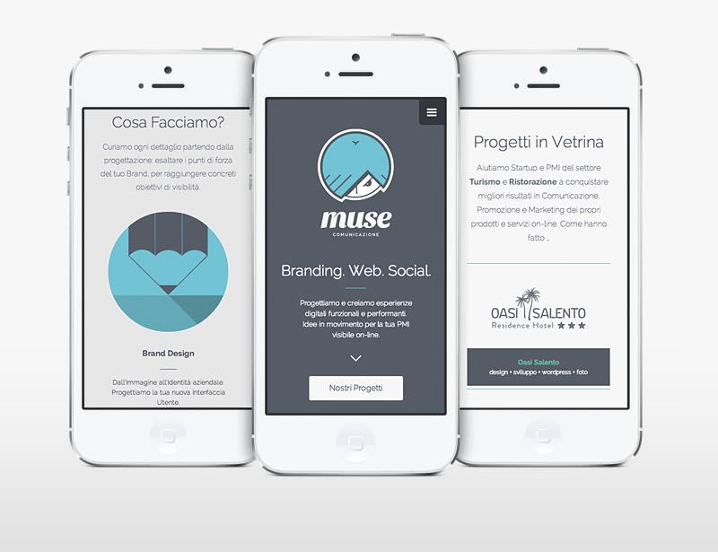 Muse Comunicazione: Nuovo Website Responsive