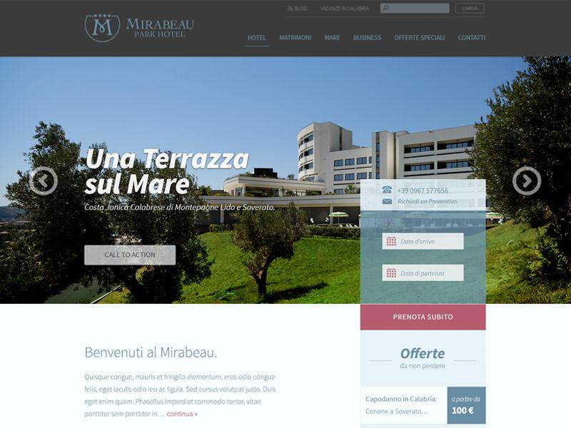 Muse Comunicazione - Mirabeau Park Hotel Visual Mockup