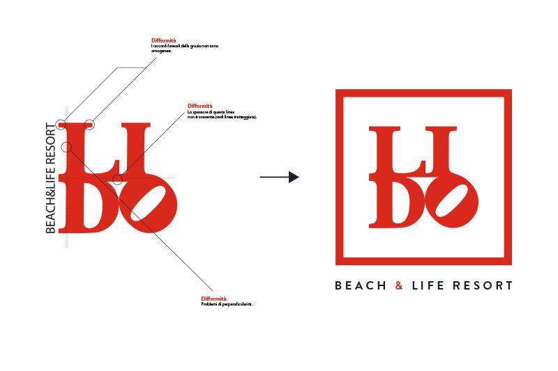 Lido Beach&Life Resort - Logo Restyling