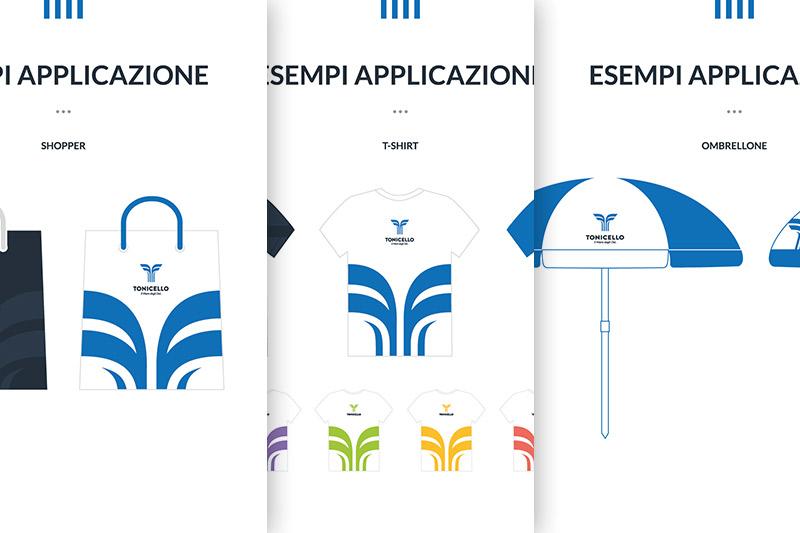Tonicello - Esempi di Applicazione del Brand