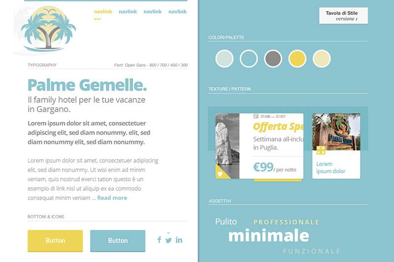 PalmeGemelle - Palette Colori e Stili