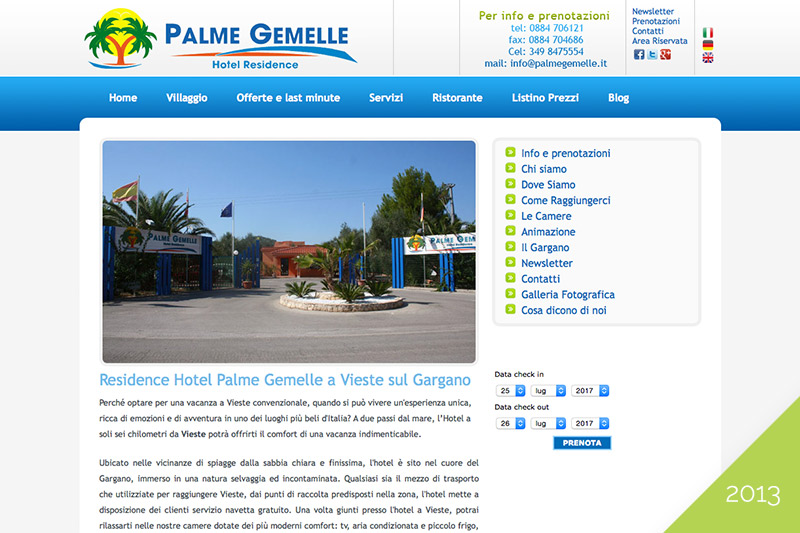 PalmeGemelle - Old Website 2013