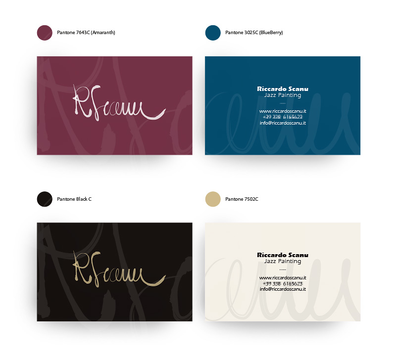 Muse Comunicazione: Riccardo Scanu Jazz Painting – Business Cards