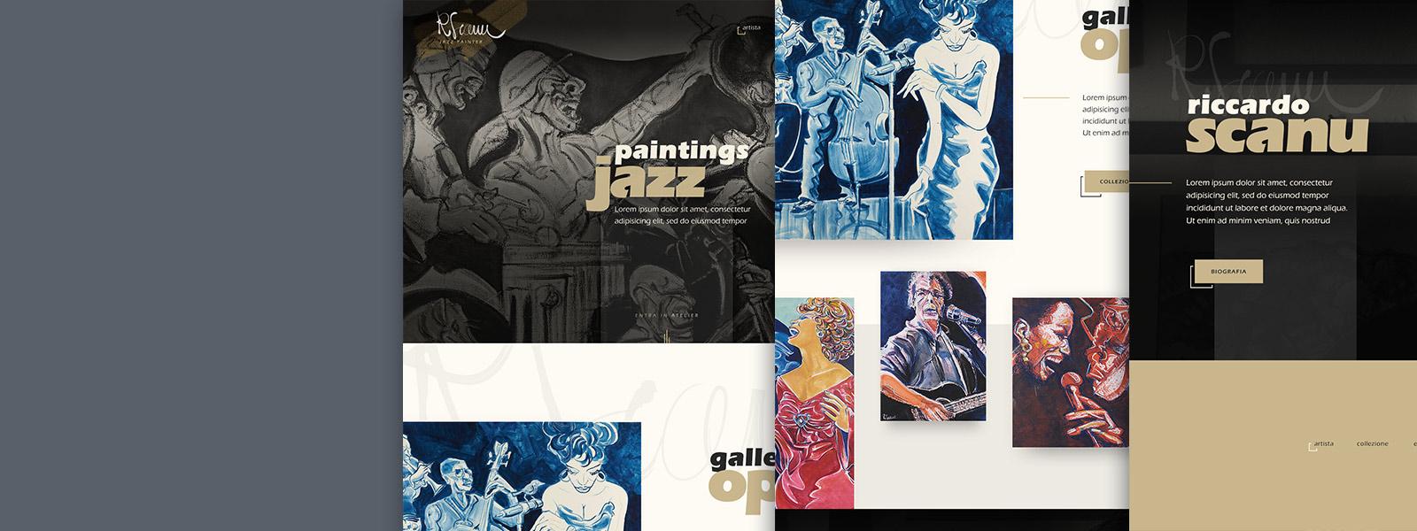 Muse Comunicazione - Riccardo Scanu Jazz Painting: Brand e Logo Design