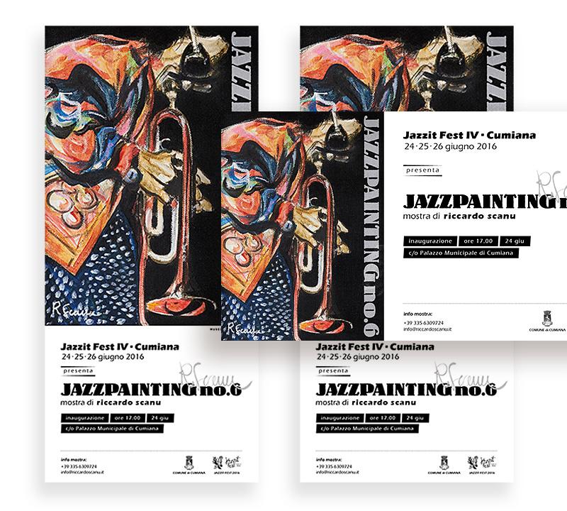 Muse Comunicazione: Riccardo Scanu Jazz Painting – Poster Design