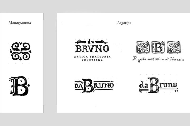 Da Bruno: bozze per il nuovo logo