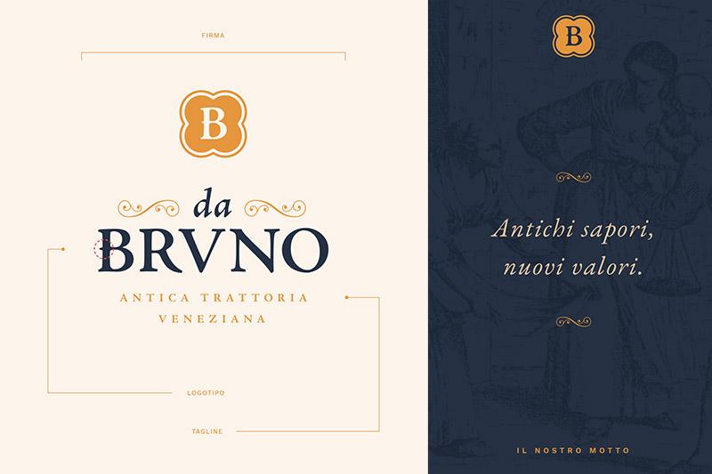 Da Bruno: Nuova Identità e Logo Design