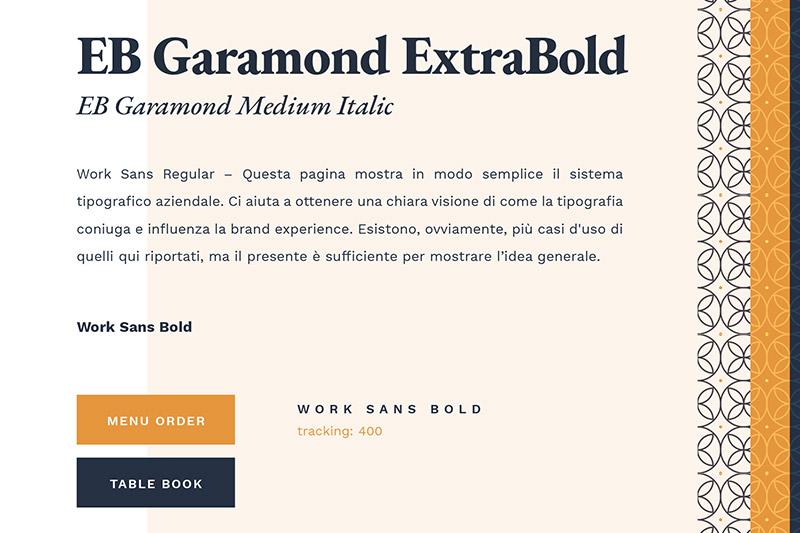 Da Bruno: stile e abbinamento tipografico