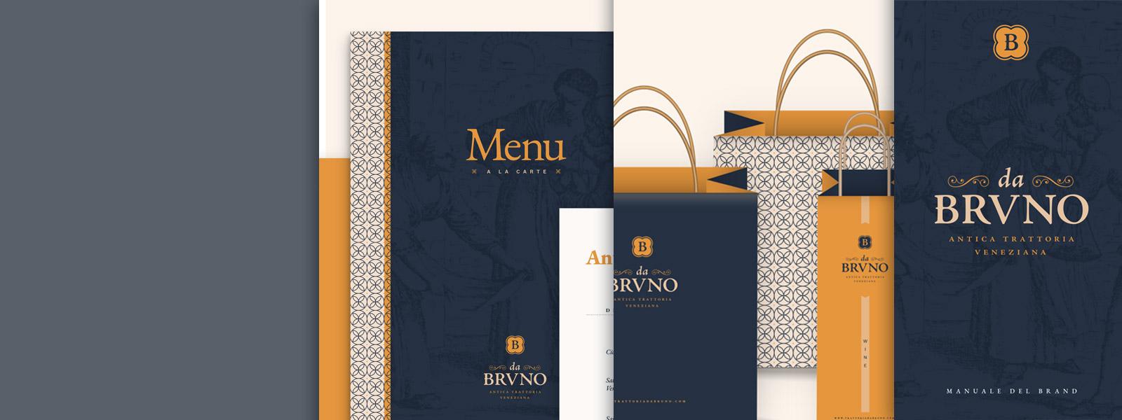 Muse Comunicazione - Da Bruno Antica Trattoria Veneziana: Brand e Logo Design