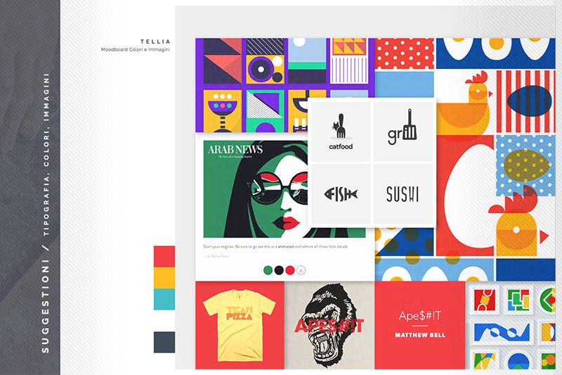 Tellia: Brand Inspiration Moodboard - Colori