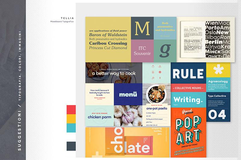 Tellia: Brand Inspiration Moodboard - Tipografia