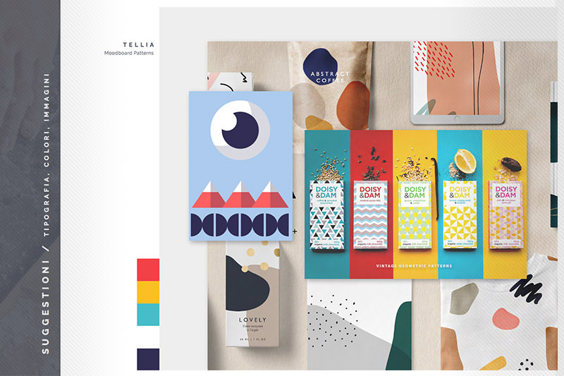 Tellia: Brand Inspiration Moodboard - Patterns