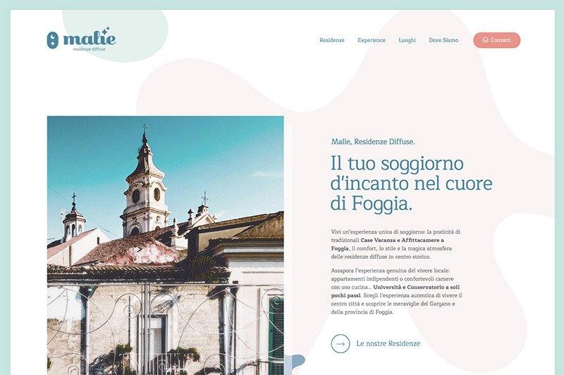 Malìe - Residenze Diffuse: Website Design